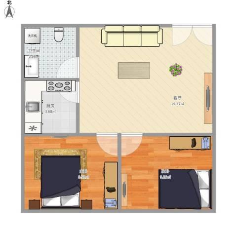 A2户型两室一厅-副本