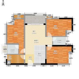 笔架山公馆84.00㎡2栋06户型3室2厅