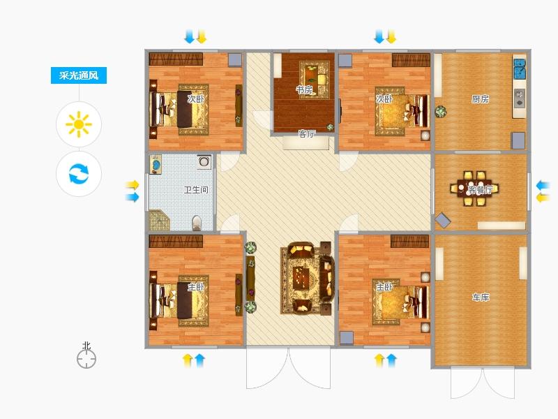 四室两厅户型图大全图片