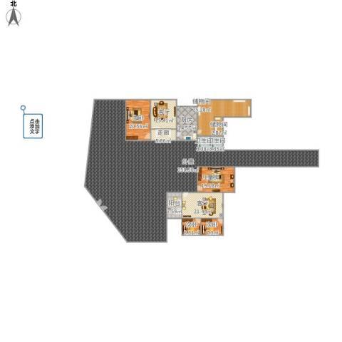 金色蓝庭60方A1户型两室1厅