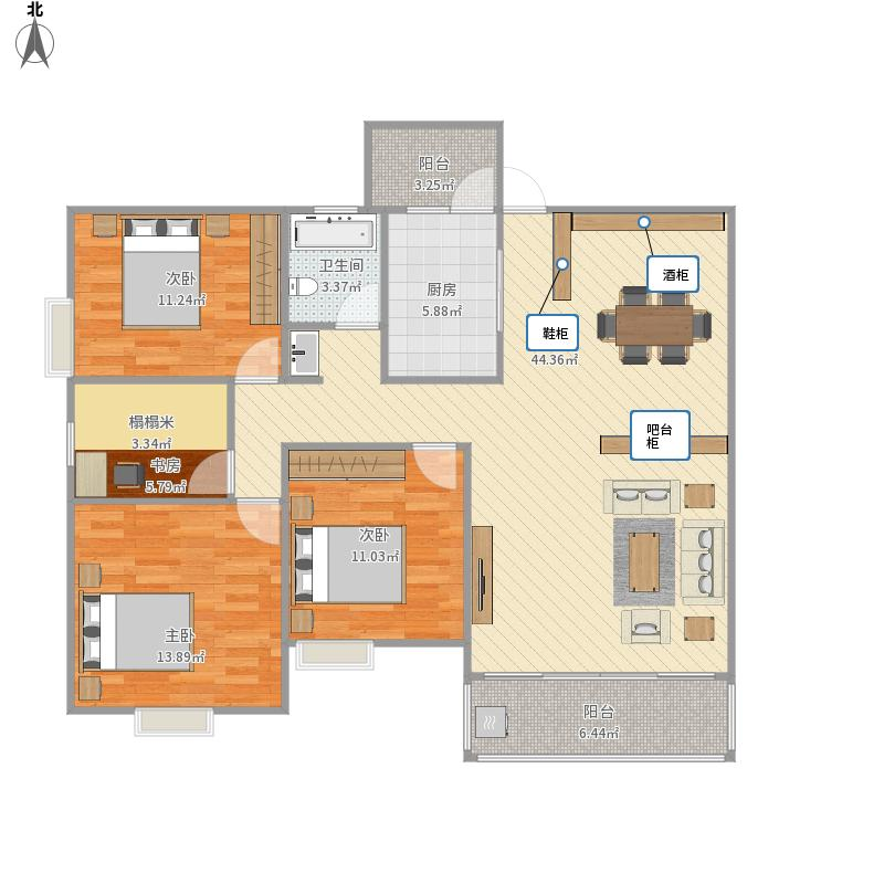 农村房屋设计图平面图手绘_平面设计图
