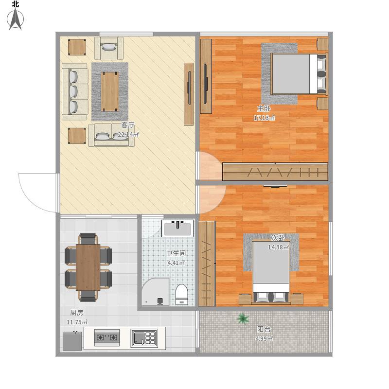 两室一厅3户型图大全,装修户型图,户型图分析,户型图