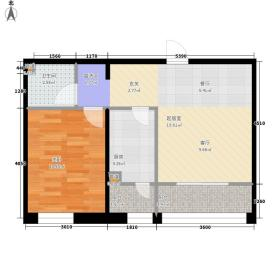 CBD瑞城D户型1室1厅