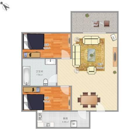 宇峰苑B-612两房两厅