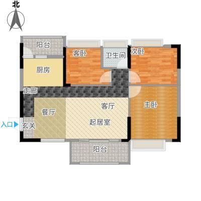 德洲城94.30㎡三期15、18栋一单元02、二单元01户型3室2厅1卫户型3室2厅1卫
