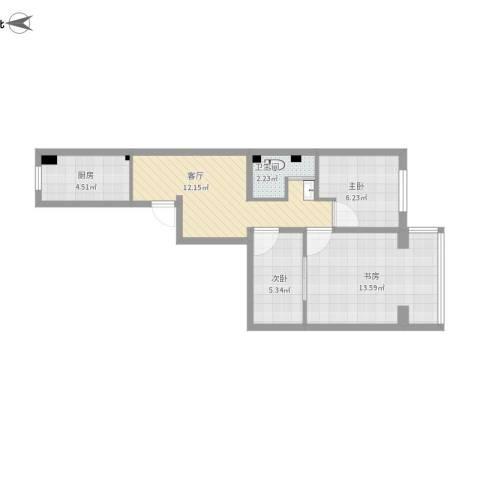 小两居户型图的方案1的复制方案-副本