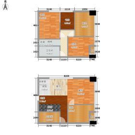 喜年广场72.19㎡3室1厅2卫户型