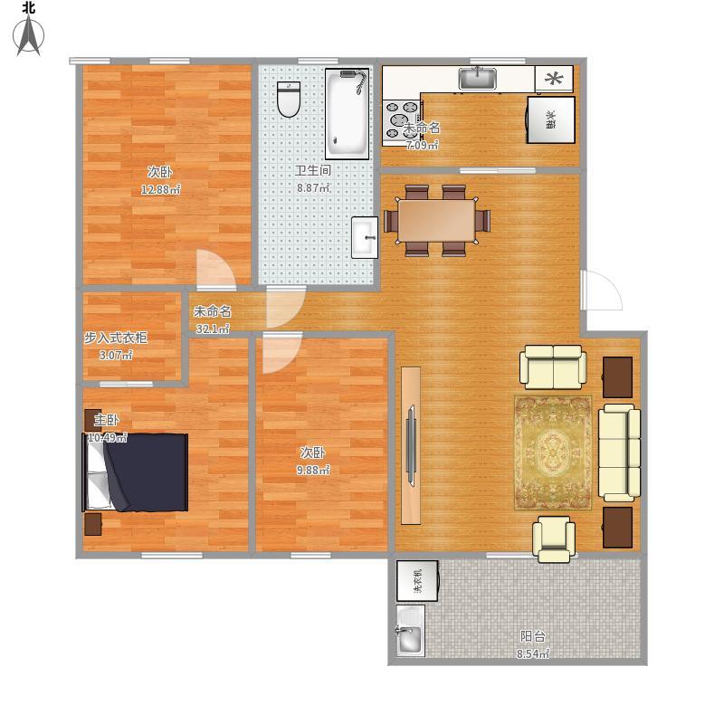 大唐苑151方复式结构