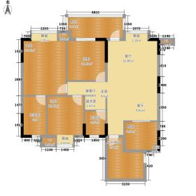 世纪金沙118.98㎡5号楼B1'型面积11898m户型