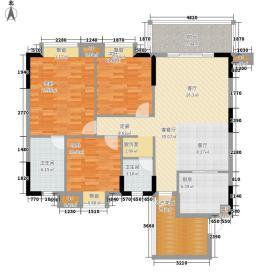 世纪金沙118.98㎡5号楼B'型面积11898m户型