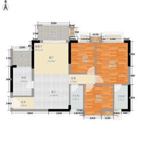 美林轩逸时光91.35㎡A6号楼2-13层06单元3室户型