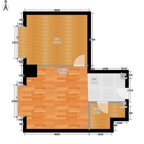 万隆国际中心66.18㎡2号楼公寓J面积6618m户型