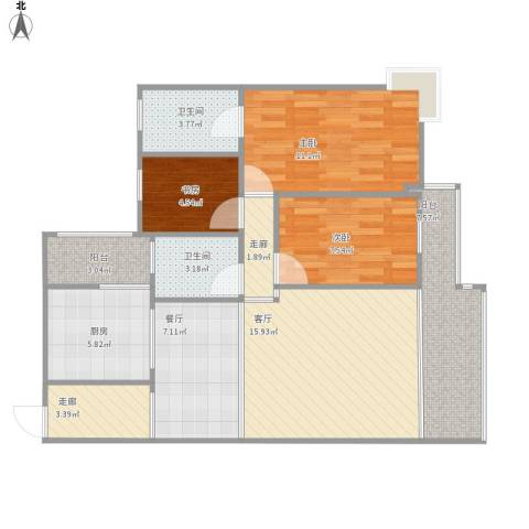 时代锋尚110方b2三室两厅