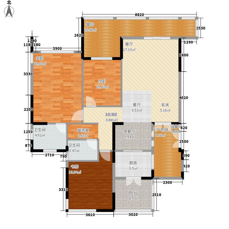 36㎡退台式花园洋房四层b1户型图片