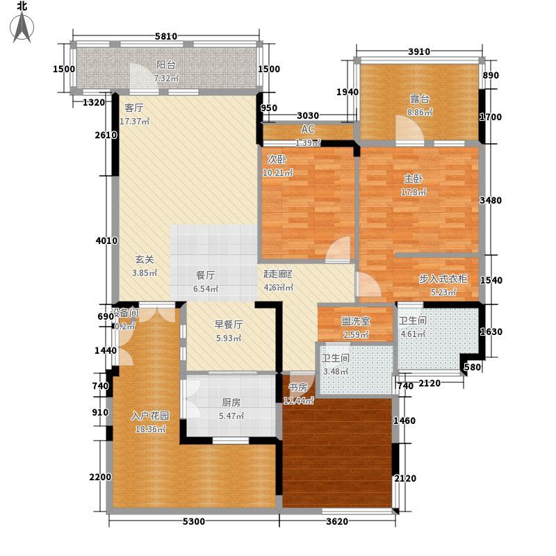 65㎡退台式花园洋房四层b2户型图片