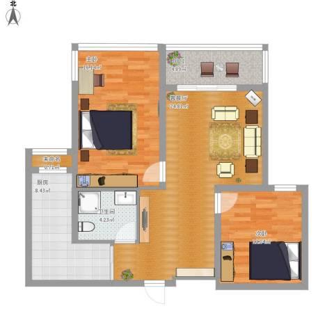 名豪天台苑88平方两室两厅