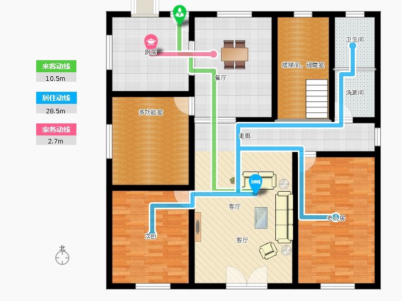 农村住房一层平面设计图展示图片