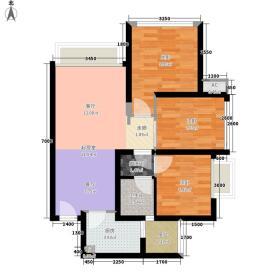 中国水电美立方G1户型2室2厅