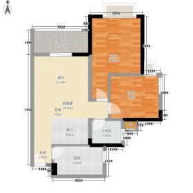 金碧世纪花园72.19㎡C6-C8栋2层面积7219m户型