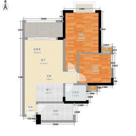 金碧世纪花园72.19㎡C5栋2-32层面积7219m户型