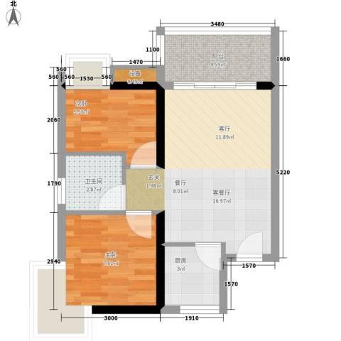 南国嘉园苹果城48.31㎡C栋标准层面积4831m户型