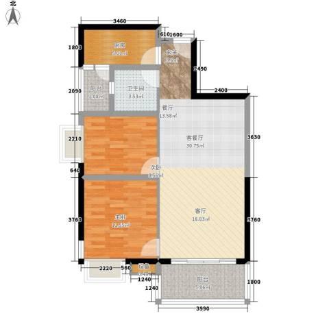 南国嘉园苹果城76.94㎡A栋E、F户面积7694m户型