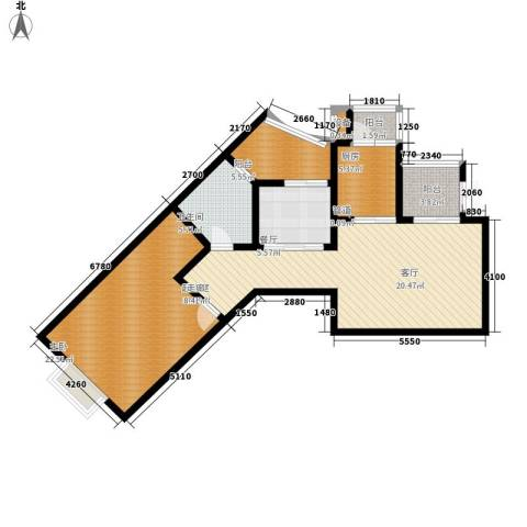 荔城花园92.59㎡1期8栋标准层02面积9259m户型