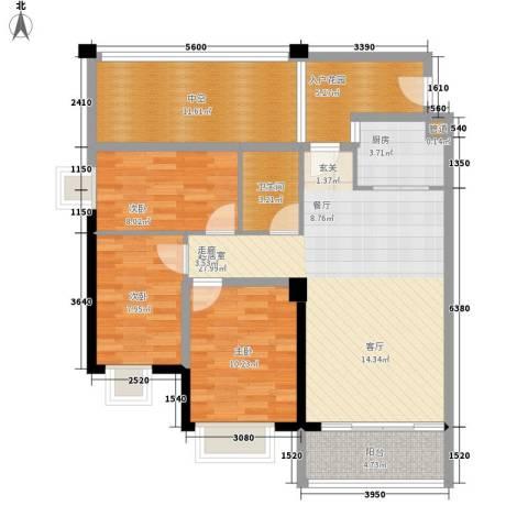 天马河公馆95.61㎡02单位户型