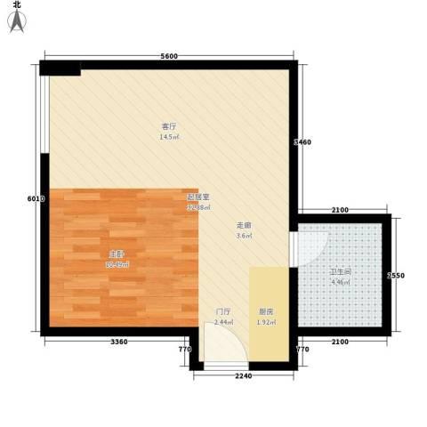 宏府嘉会公寓40.73㎡面积4073m户型