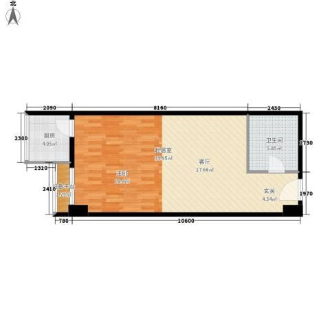 宏府嘉会公寓56.57㎡面积5657m户型