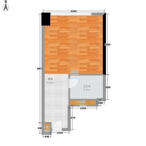 达镖国际商务公寓42.38㎡一期1号楼6层E户型