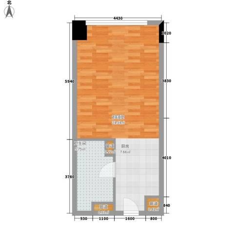 达镖国际商务公寓42.99㎡一期1号楼6层D户型