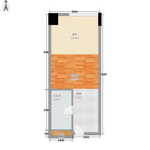 达镖国际商务公寓44.63㎡一期1号楼6层B户型