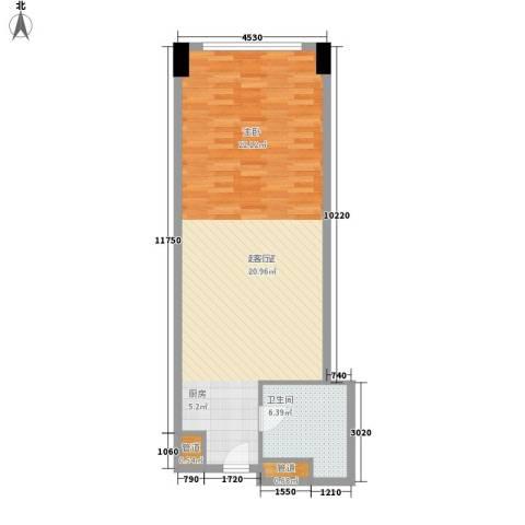 达镖国际商务公寓61.19㎡一期1号楼6层C户型
