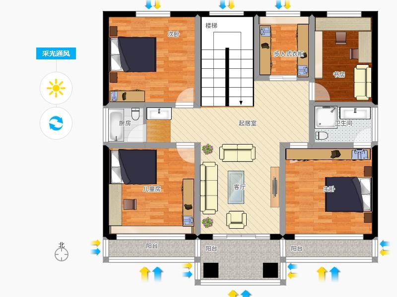 昆山农村自建房120平四室一厅两伟2f户型图大全 - 图图片