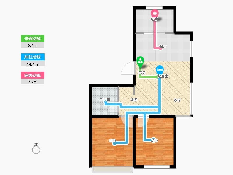 复制的方案_金沙美丽岛80.00㎡高层h户型2室2厅1卫