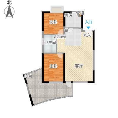 鲁能三亚湾94.00㎡鲁能三亚美丽城5区户型户型A-1户型2室2厅1卫