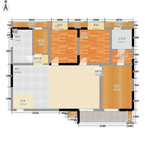 LOMO铂客135.00㎡1#楼E2面积13500m户型-副本