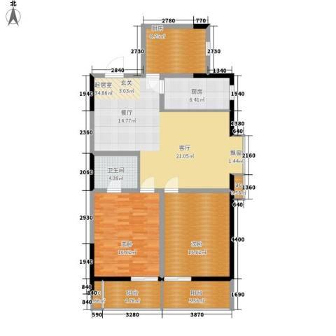 LOMO铂客112.00㎡1#楼D2面积11200m户型-副本