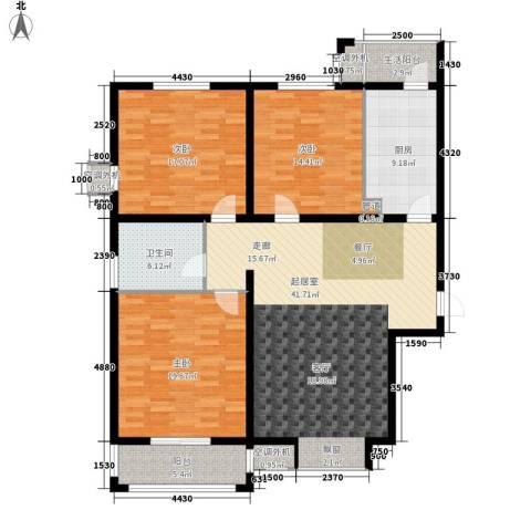 阳光公寓128.00㎡面积12800m户型-副本