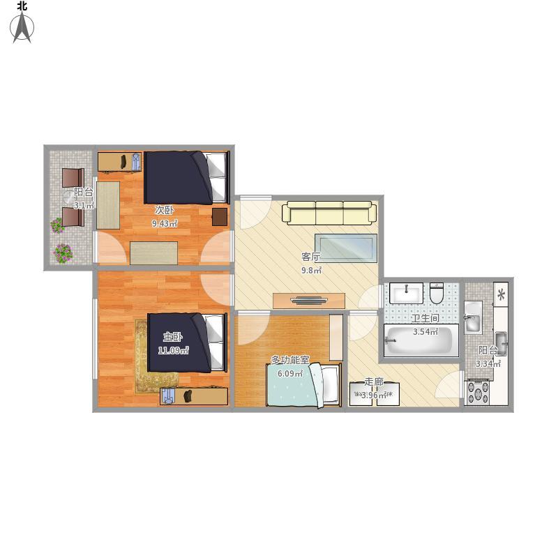 11乘9米房设计平面图