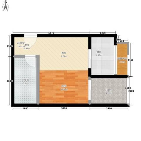 柠檬公寓45.00㎡面积4500m户型