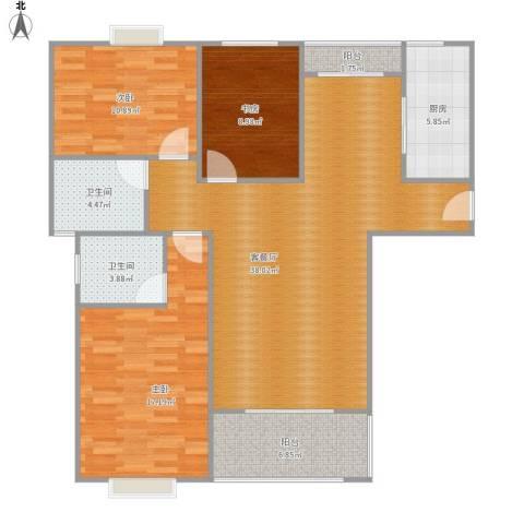 大云雅苑121平A1户型三室两厅两卫
