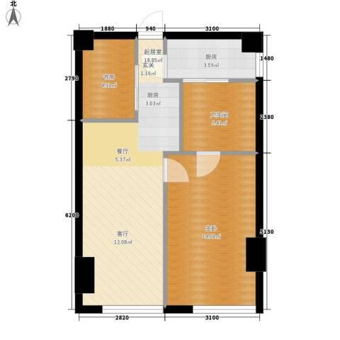 旷世国际107.00㎡B栋5-11层C1五星级酒店式公寓户型