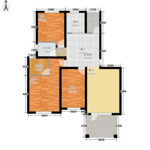 共和世家123.30㎡A32面积12330m户型