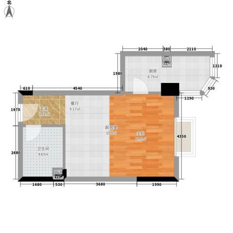 建苑家园43.57㎡面积4357m户型