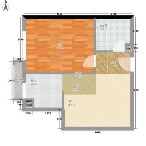建苑家园48.39㎡面积4839m户型