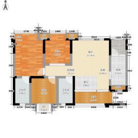 戛纳湾96.00㎡三期11号楼标准层A1户型