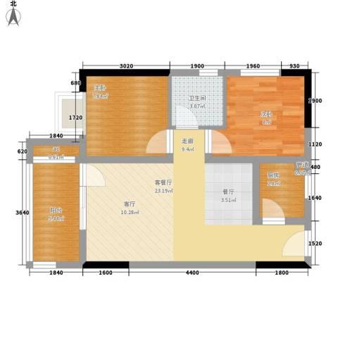 首创iHOME54.72㎡1号楼1号房面积5472m户型