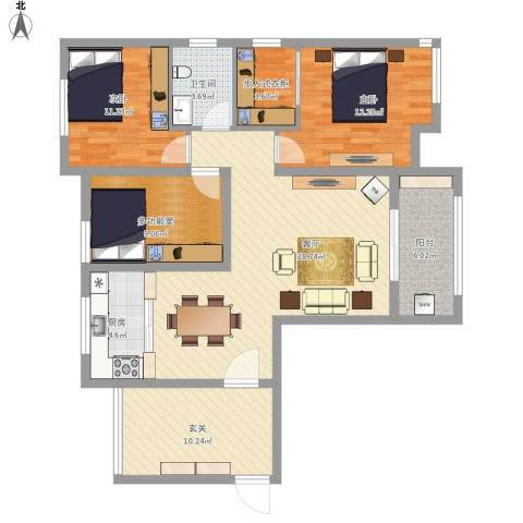 平湖天下120平米三室两厅两卫